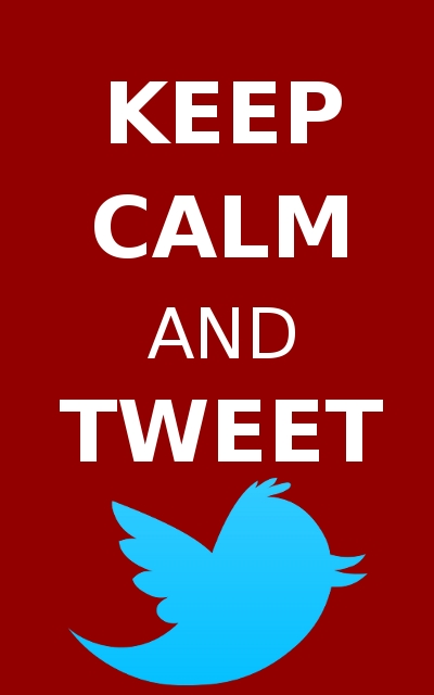 keep calm tweet
